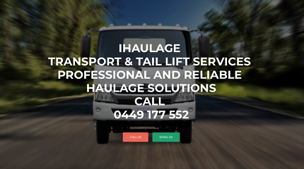 iHaulage tail lift transport and courier services
