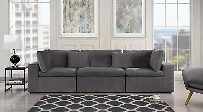 large classic living room sofa plush velvet