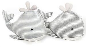Fabric Seashore Whale Doorstop ~ Nautical Animal Door Stop