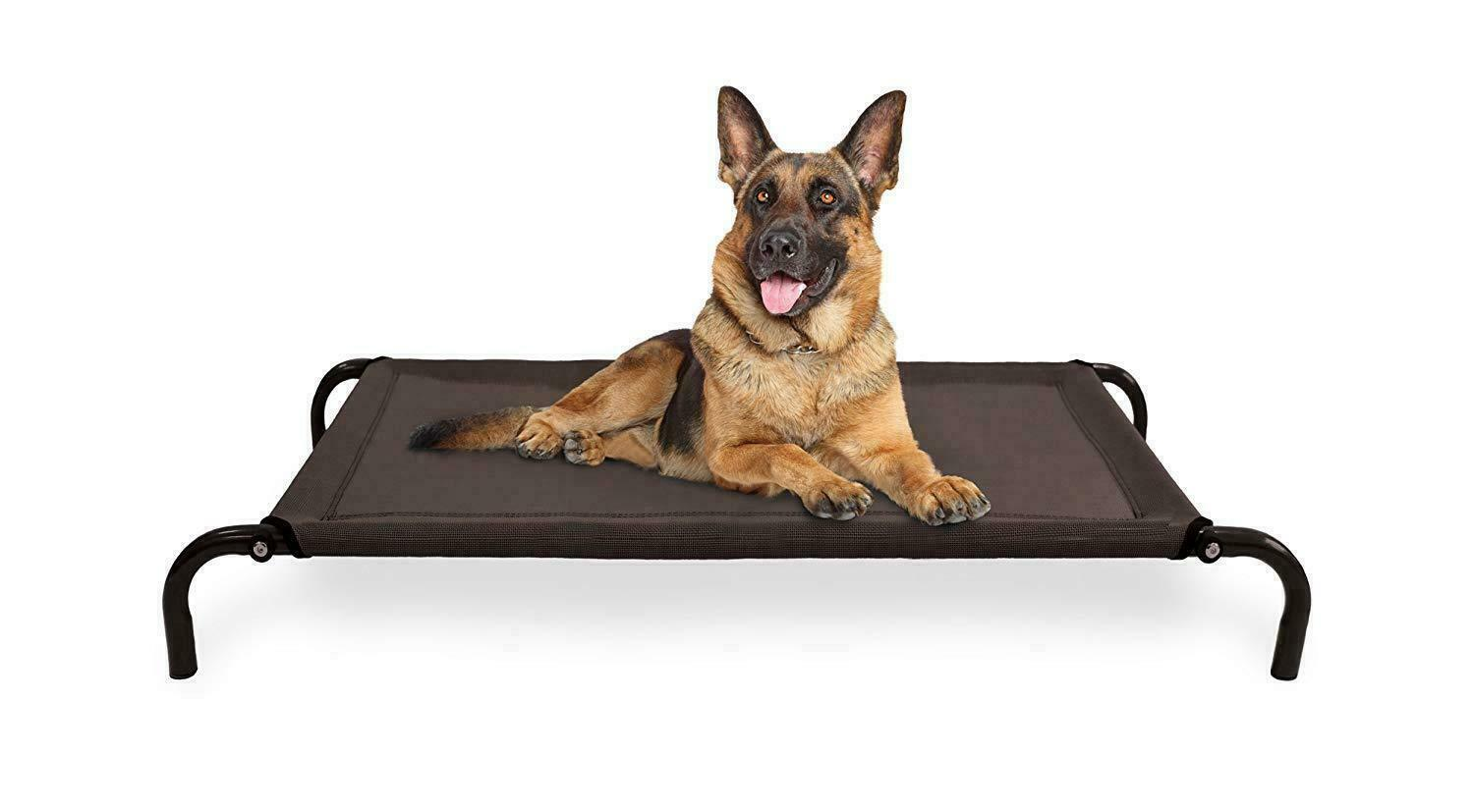 Furhaven Pet Large Cot Pet Bed for Dogs and Cats- Espresso N