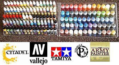 60-80 pots! perspex plastic Paint stand Bottle Rack acrylic Organiser universal