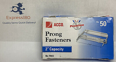 Il Acco Acc70022 Paper Fastener Compressors 2 Capacity Prong Base Pack Of 50