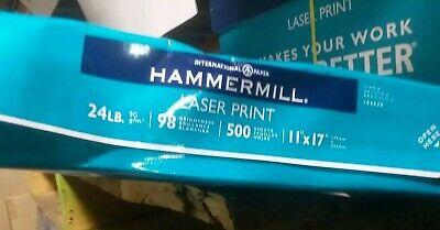 Hammermill Premium Laser Print 24lb Copy Paper 11x17 1 Ream 500 Sheets