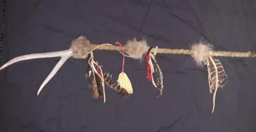 "Siuox Deer Dance Stick, Hootchoo Collection by Bear, 35"""