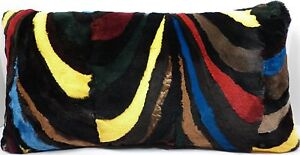Real Mink Fur Sections Pillow sheared multi-color genuine authentic