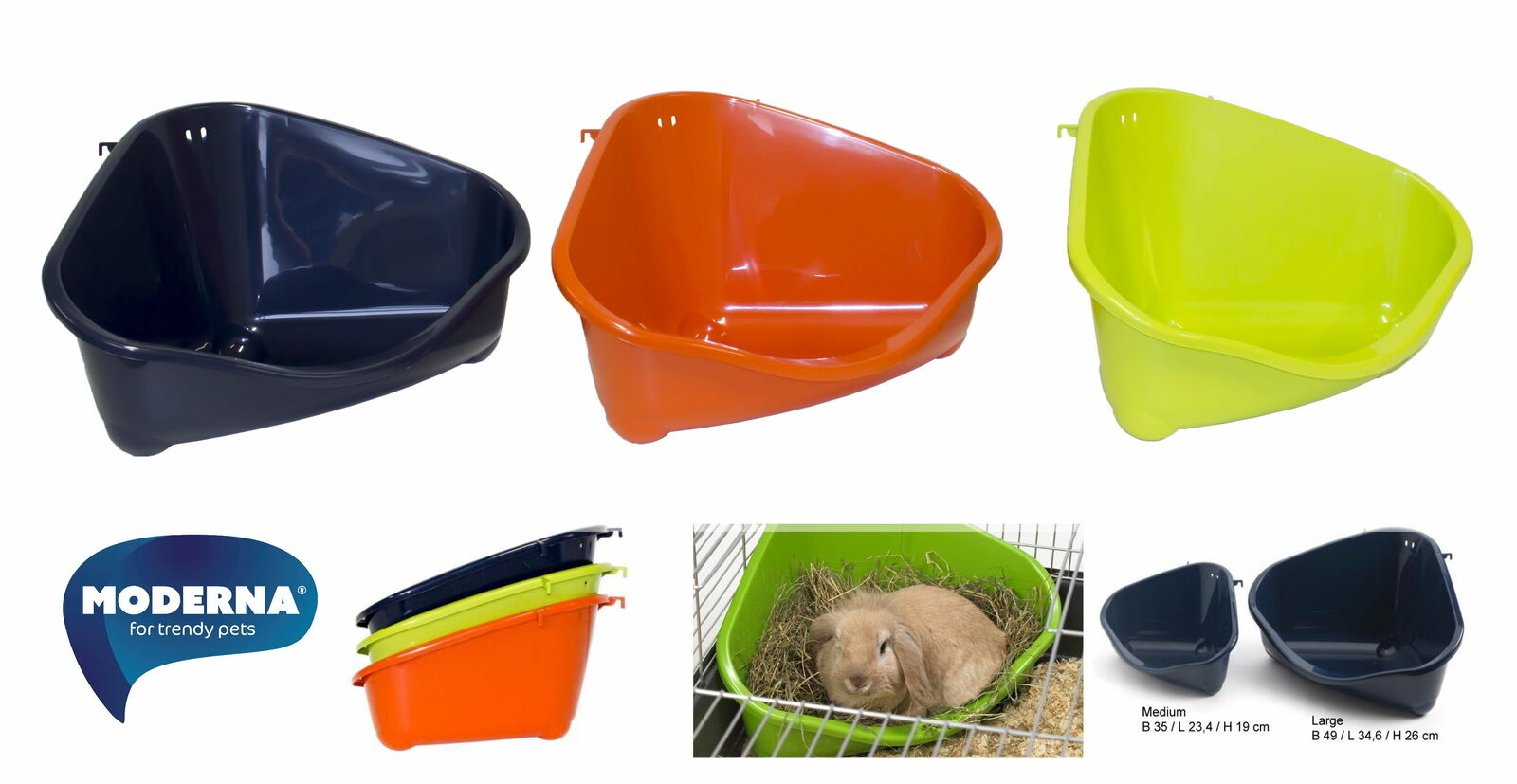 PetS Corner Ecktoilette für Nager und Kleintiere verschieden Größen und Farben
