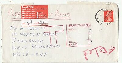 GB COVER SURCHARGED RETURN TO SENDER.Rfno.E121.