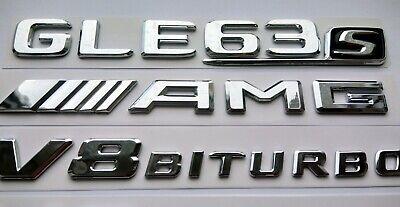 Mercedes GLE63s AMG (V8 BITURBO x2) flache chrome Schriftzug-Embleme