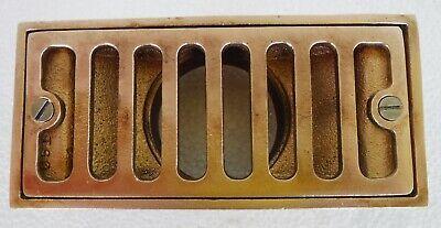 Rectangular Bronze Floor Drain With Strainer Grate 3 X 6