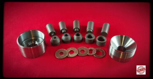 """BIG  Self Centering Coin Ring Punch Set, No Spacers  1/4"""" 3/8"""" 1/2"""" 5/8"""" 3/4"""""""