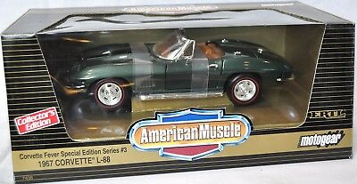Used, ERTL 1/18 MOTOGEAR #1 1967 Corvette L-88 Roadster GREEN 7438 NEW American Muscle for sale  Shipping to Canada