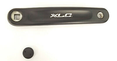 XLC Alloy Left 170mm Crank Arm Square Taper Bike Bicycle Black Mountain 49086