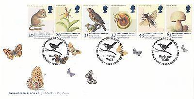 (00196) GB FDC Endangered Species Birdcage Walk London 20 January 1988