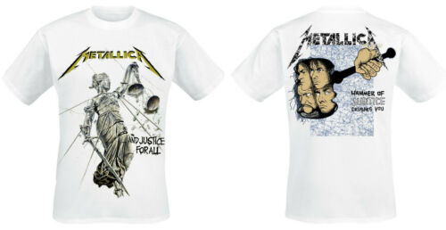 Metallica Official T-Shirt And Justice for All Thrash Metal Classic Kill