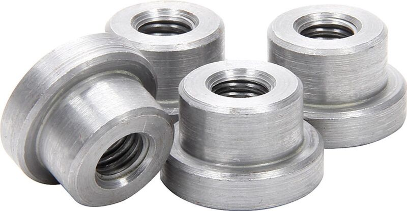 """Weld on Nuts 3/8""""-16 Thread Threaded Nut Steel Chassis Mount Tab Pack of 4"""