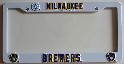 New Milwaukee Brewers MLB Baseball League License Plate Plastic Frame Car Tag