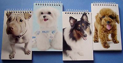Spiral Memo Books Pads With Dog Covers - 14 4pks New Sealed Lot Of 56 - 3x5