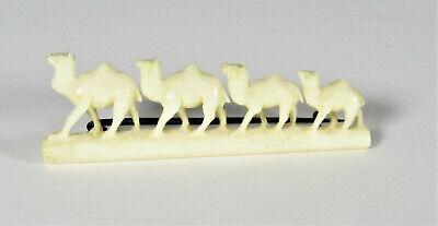 Vintage Miniature Carved Camel Pin