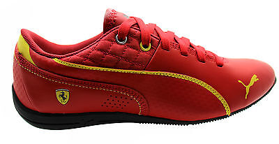 Puma Drift Cat 6 SF Lace Up Red Leather Synthetic Trainers 305136 04 B78C