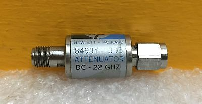 Hpagilent 8493y-003 Dc To 22 Ghz 3 Db 2w Sma M-f Fixed Coaxial Attenuator