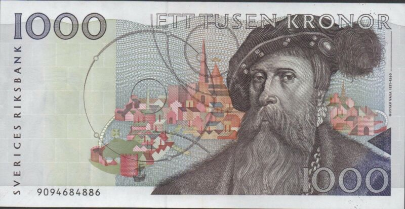 Sweden 1000 kronor 1989  P 60a  Circulated Banknote