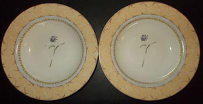 Heritage Mint Enchanted Garden Fine China 2 Rim Soup Bowls Ceramics 4a17o