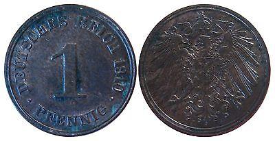 J 10   1 Pfennig Kaiserreich 1910 J in VZ  502795