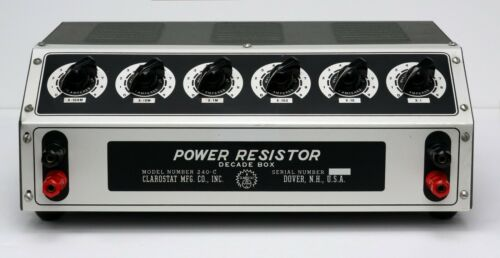 Clarostat 240-C Power Decade Resistor Box 1Ω - 1MΩ 225W 240C