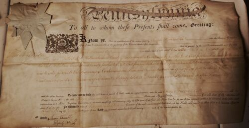 1796 LAND GRANT Signed Thomas Mifflin Governor Pennsylvania Constitution Signer