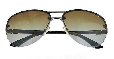 VERSACE VE 2139 1001/T5 60mm Gunmetal Aviator Polarized Sunglasses Italy