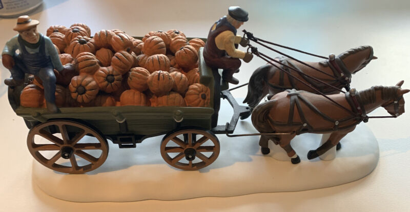 Dept. 56 Harvest Pumpkin Wagon Heritage Village New England Collection 56591