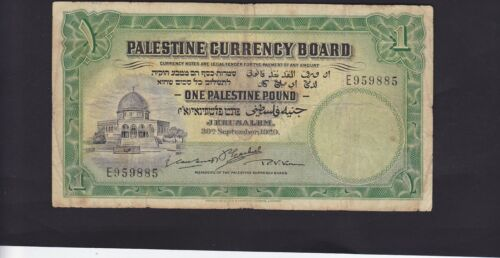 """PALESTINE 1 POUND DATED 1929 P.7b PREFIX """"E"""" IN FINE CONDITION"""