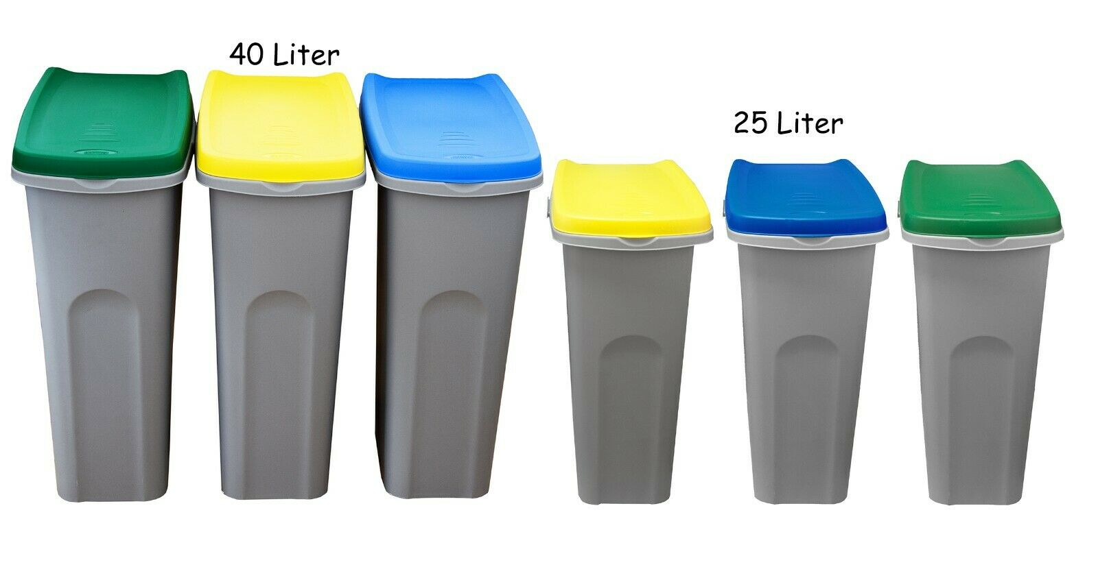 Mülleimer für Mülltrennung Mülltrennsystem Mülltrenner Sortierer Abfallsammler