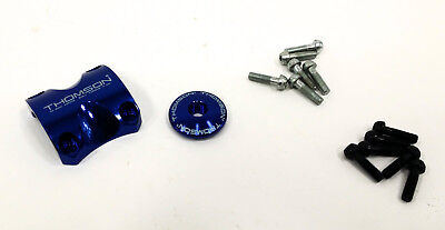- Thomson Stem Faceplate Dress Up Kit For X4: 31.8mm Bolts Included, BLUE