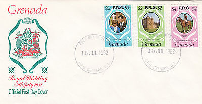 (03627) Barbados FDC Princess Diana Wedding PRG OVERPRINT 15 Jul 1982