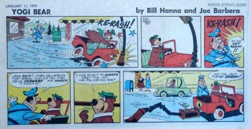 Yogi Bear by Eisenberg - Hanna-Barbera - color Sunday comic page - Jan. 11, 1970