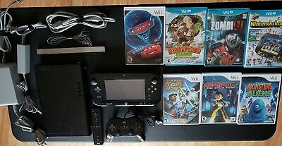 Nintendo Wii U Launch Edition 32GB Black Handheld System with Games