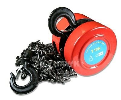 New 1ton Chain Hoist Puller Block Winch Steel Hardened Lift Capacity 2000 Lbs