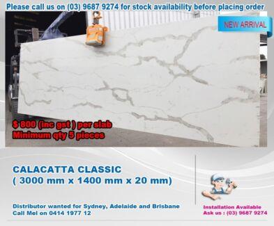 CALACATTA  SLAB 3000 mm x 1400 mm x 20 mm KITCHEN BENCHTOP