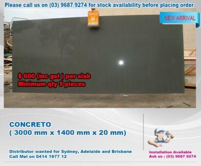 KITCHEN BENCHTOP / VANITIES CONCRETO 3200 MM X 1600 MM X 20 MM