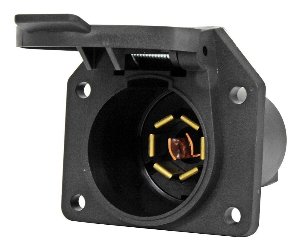 New Truck Motorhome Camper Rv 7 Way Female Socket Connector Wiring A Plug For An 4 Of See More