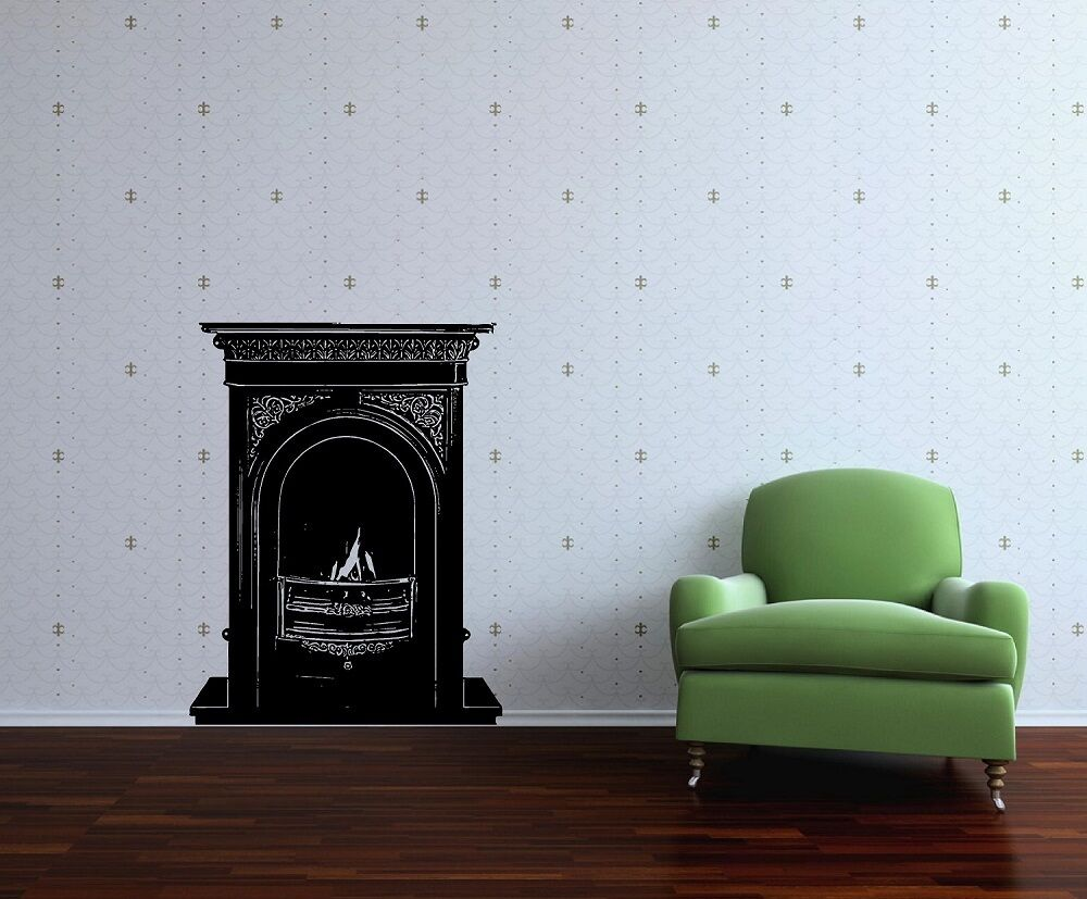 FIREPLACE - Wall Art Sticker - 5 DESIGNS