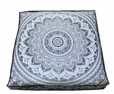 - Indian Mandala Meditation Square Ombre Floor Pillow Throw Cushion Cover Pouf 35