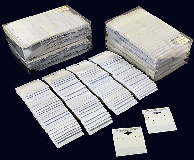 500 White Sterling Silver Hanging Earring Cards 2 X 2