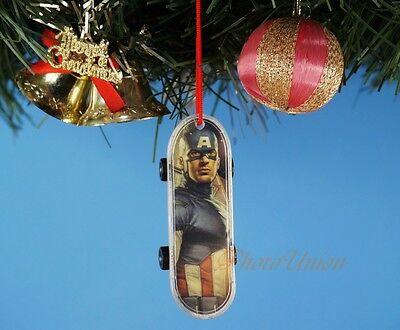Dekoration XMAS WEIHNACHTEN Ornament Dekor Skateboard Captain America *K1026_B ()