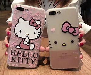 Nueva-Movil-Funda-de-silicona-suave-Transparente-diseno-de-Hello-Kitty-cute-case