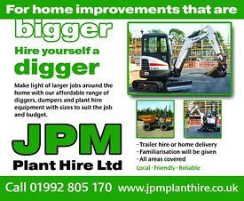 Micro Diggers,Mini Diggers, Skip Loaders,Dumpers & Plant Hire