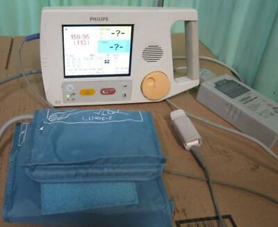 Philips C1 Color Patient Monitor Nibp Nellcor Spo2