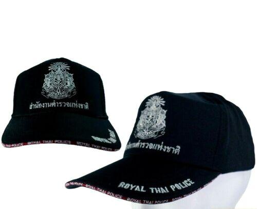 1 X Collectible Thai Royal Police Cap Souvenirs Thailand Black Hat Gift  NEW