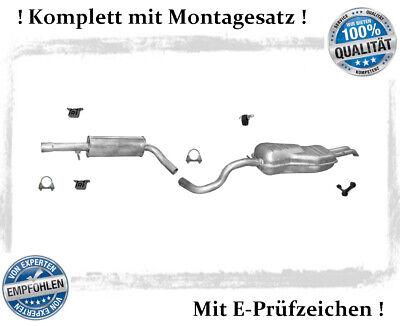 Auspuff Endschalldämpfer Endtopf Peugeot 307 1.4i 1.6i Schragheck MONTAGESATZ